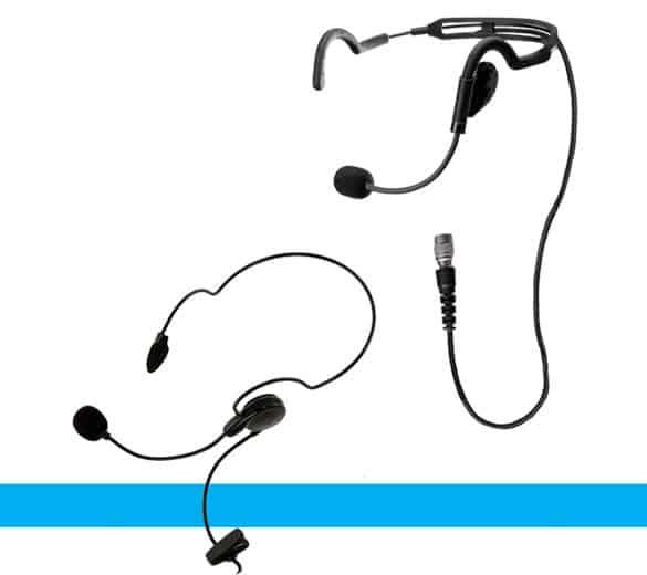 Two way radio headsets